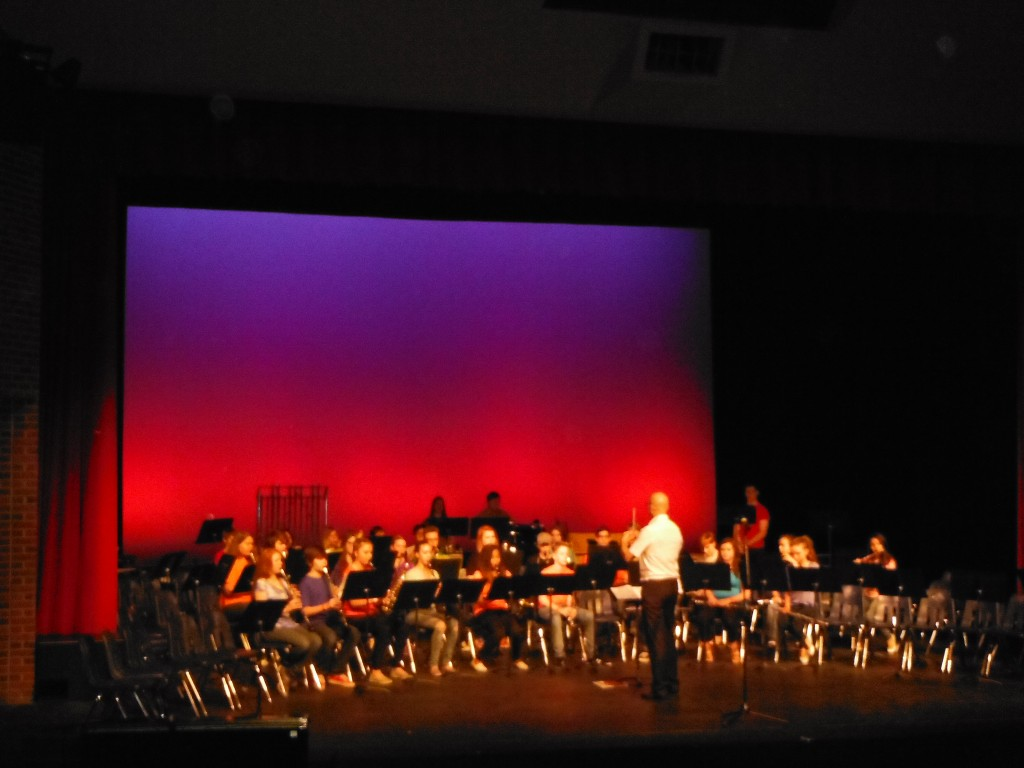 The grade 8 band performs at the Victoria Art Festival