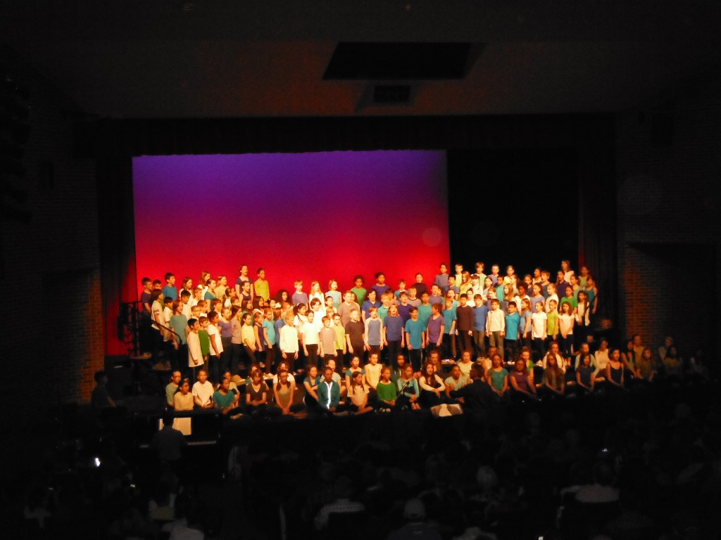The grade 4s, 5s & 6s perform the Lonely Mountain Song from The Hobbit