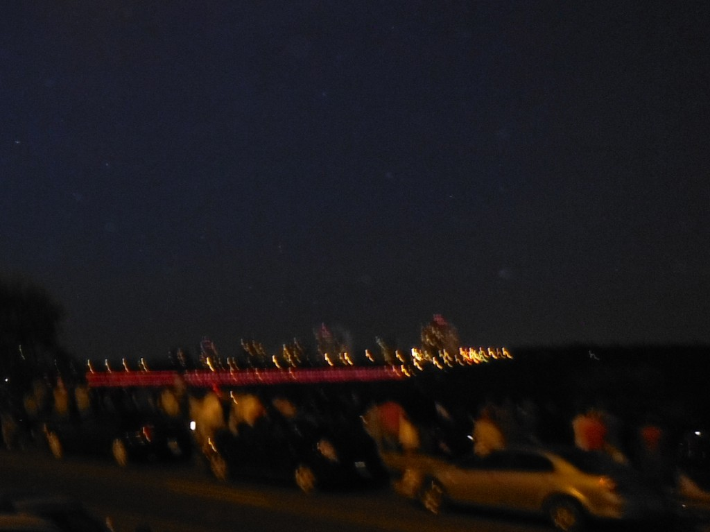 The High Level Bridge in Canada Day Colours