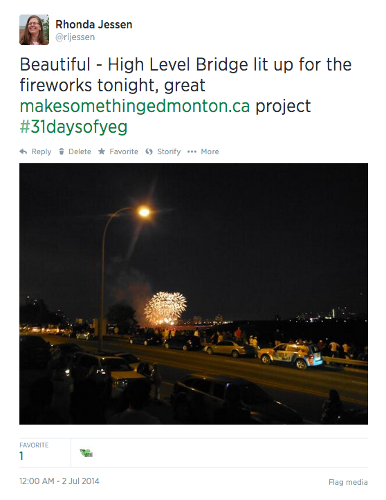 July 1st Tweet for 31 Days of Yeg