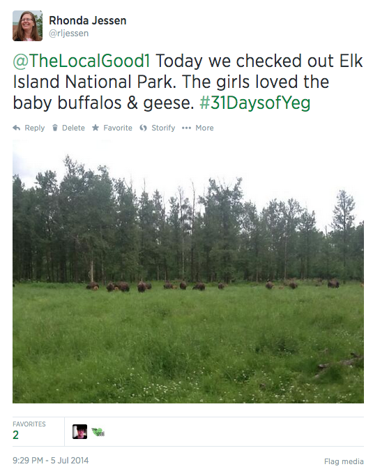 July 5th Tweet for 31 Days of Yeg