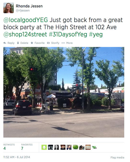 July 6th Tweet for 31 Days of Yeg