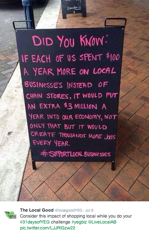 The Local Good encouraging us to buy local