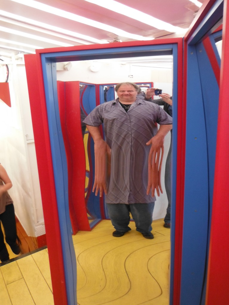 Tom in the fun house