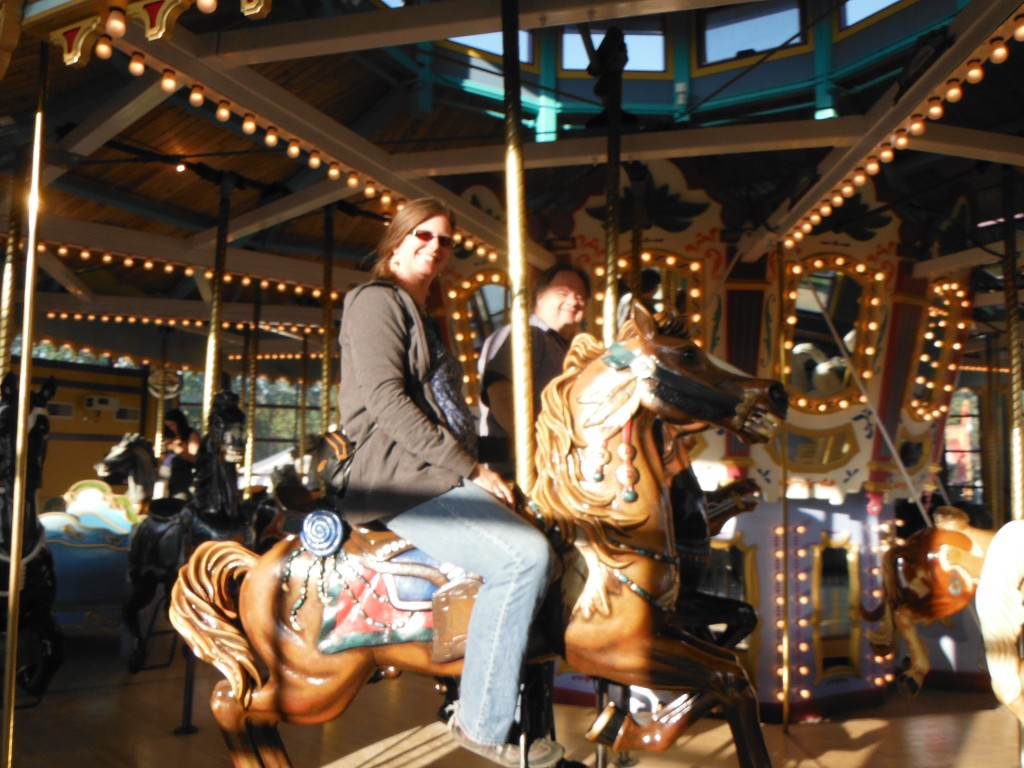 Tom and I on the carousel