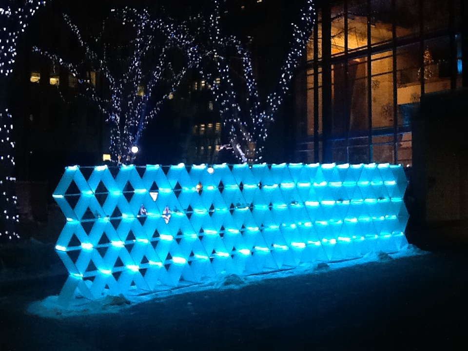 Light Installation outside the Windspear Centre