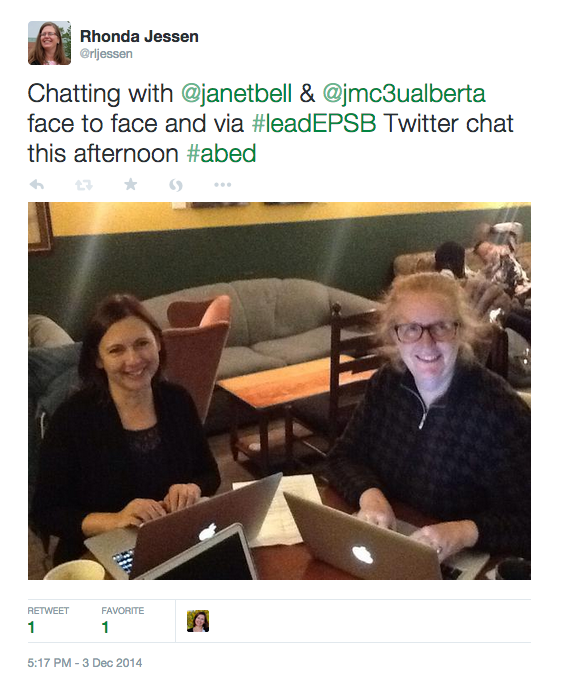 Janet and Maureen #leadEPSB Twitter Chat
