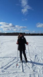 Jay cross country skiing