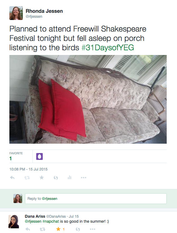 The couch on the front porch