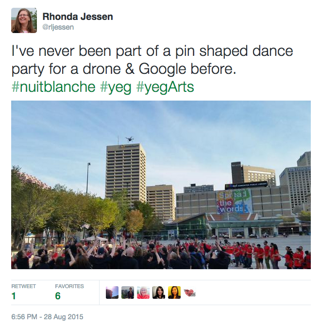 The drone & the dance party