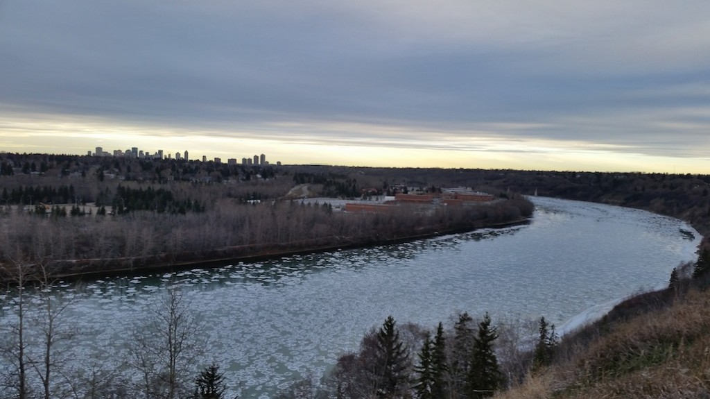 A bend in the North Saskatchewan River