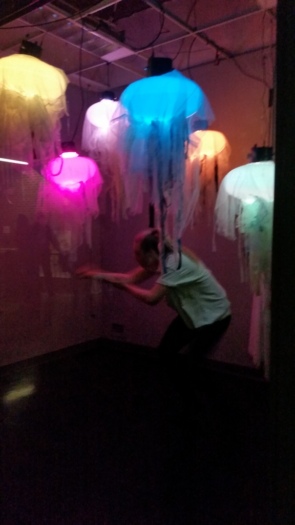 Solo dance with jellyfish